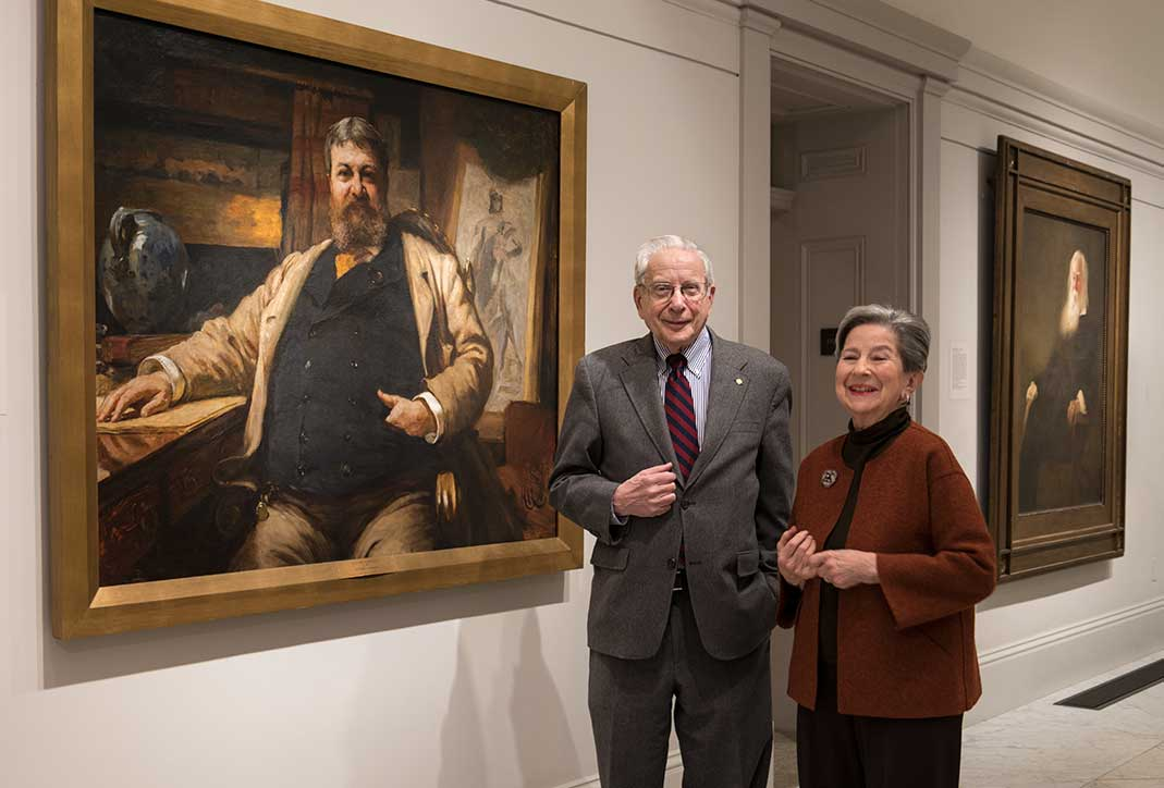 Alan and Lois Fern, in the galleries at the museum