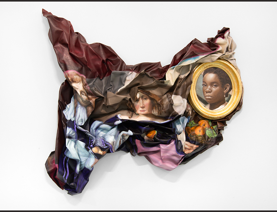 Collage of items and African American portraits