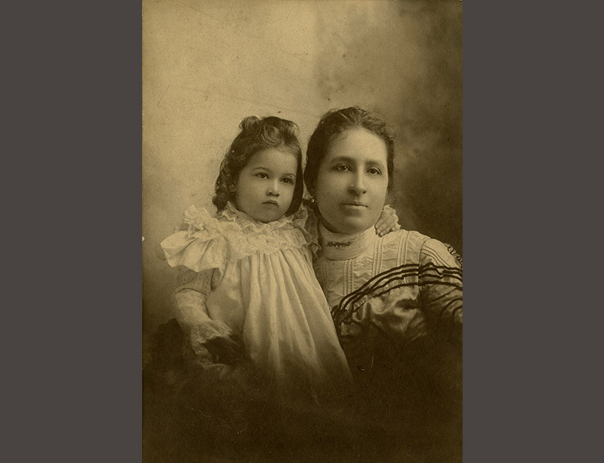 Photo of a woman and her child