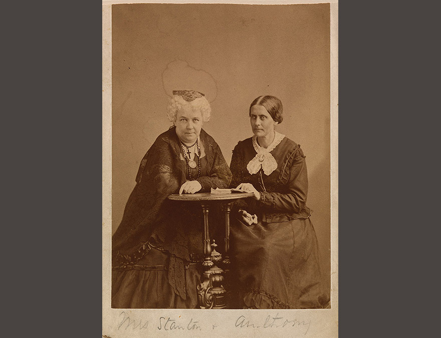 Photo of two seated older women