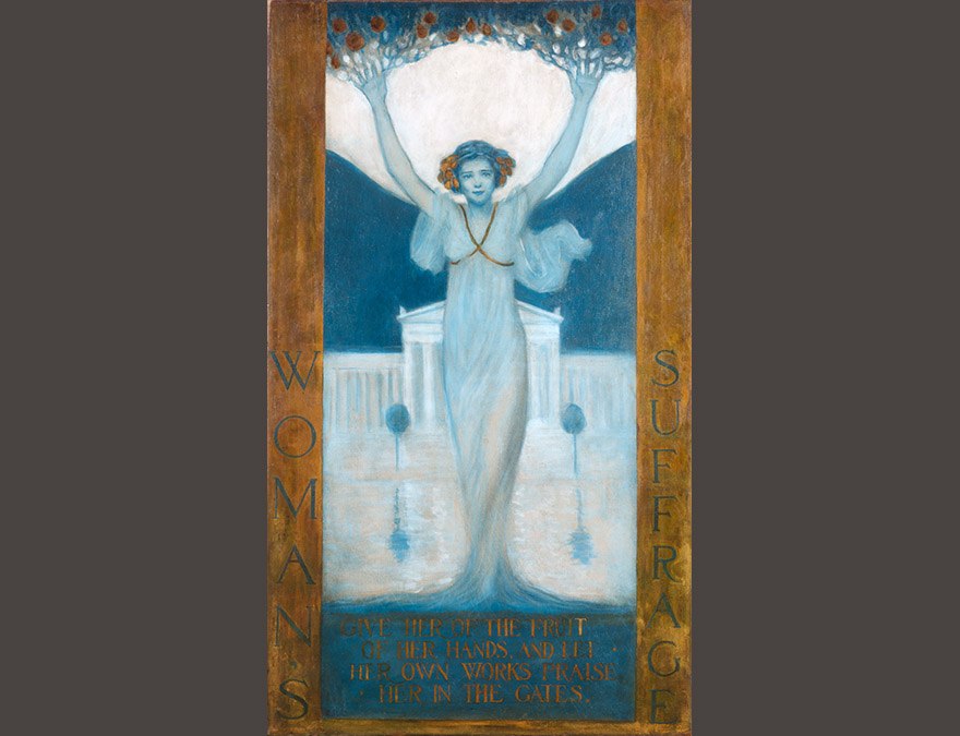 poster of a woman with upraised arms